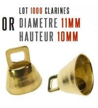 1000 cloches clarines Or  ..