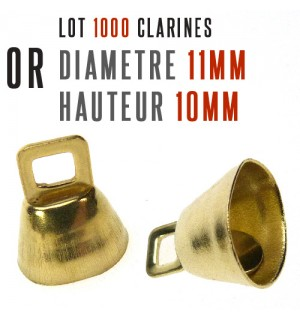 1000 cloches clarines Or diam 11mm