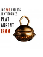 Lot 500 grelots plats Antique 19mm