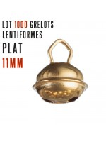 Lot 1000 grelots plats Or 11mm